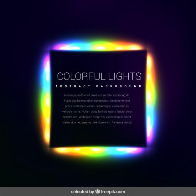 Lumières Colorées Fond Vecteur gratuit
