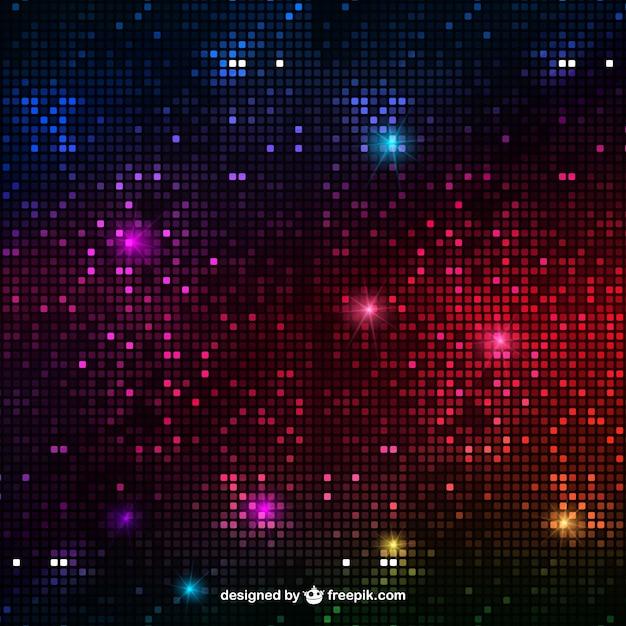 Lumières disco fond abstrait Vecteur gratuit