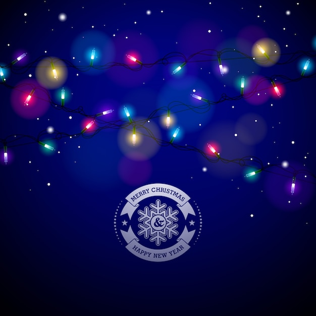 Lumi res de no l color es lumineux pour no l vacances et bonne ann e cartes de voeux design sur for Spot lumineux pour noel