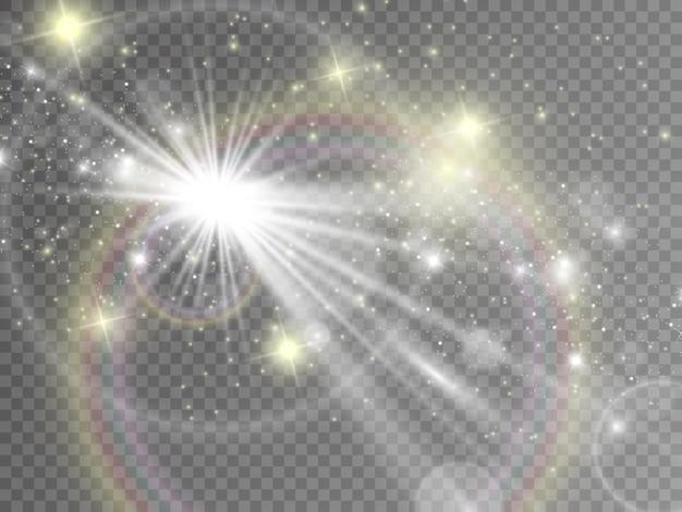 Lumières De Noël Isolées Sur Fond Transparent. Illustration. Vecteur Premium