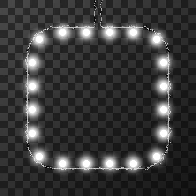 Lumières De Noël Isolés Sur Fond Transparent, Vecteur Premium
