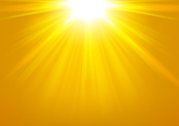 Lumières d'or qui brille sur fond clair vector illustration Vecteur Premium