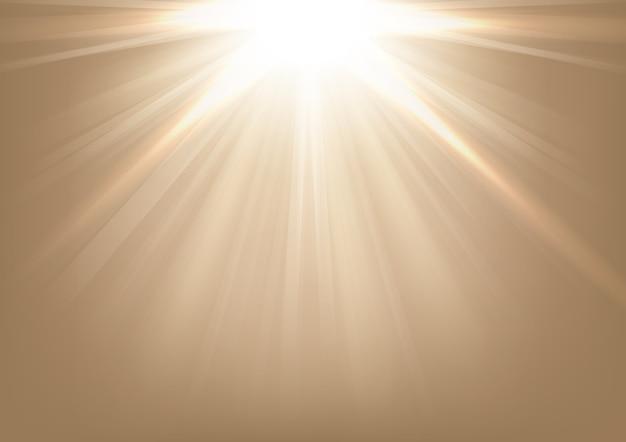 Lumières qui brillent sur fond clair Vecteur Premium