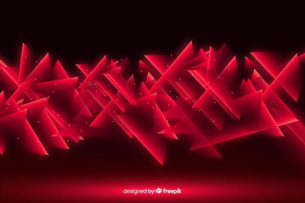 Lumières rouges géométriques abstraites Vecteur gratuit