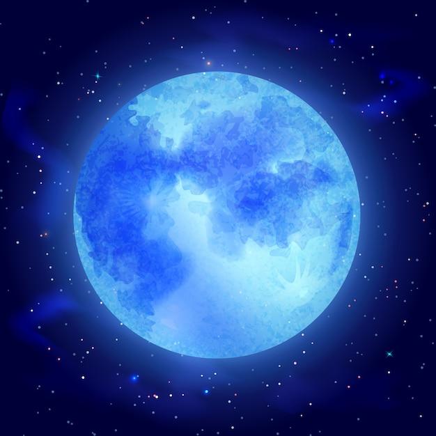 Lune avec étoiles Vecteur gratuit
