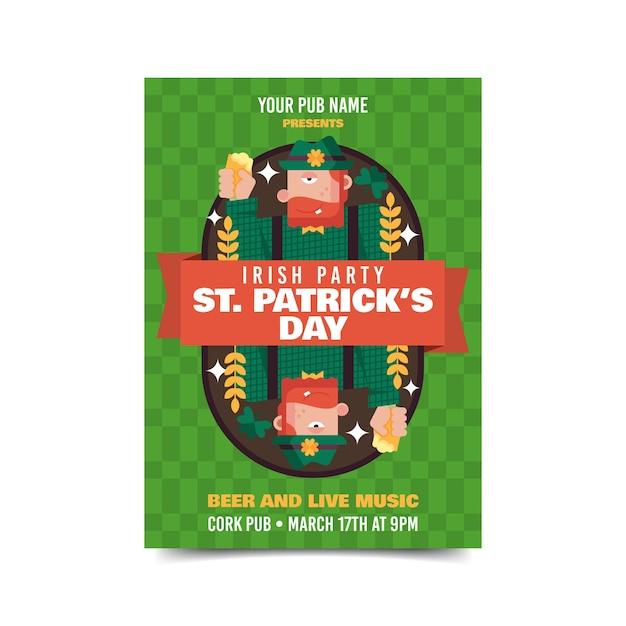 Lutin à L'envers St. Affiche De La Patrick Vecteur gratuit