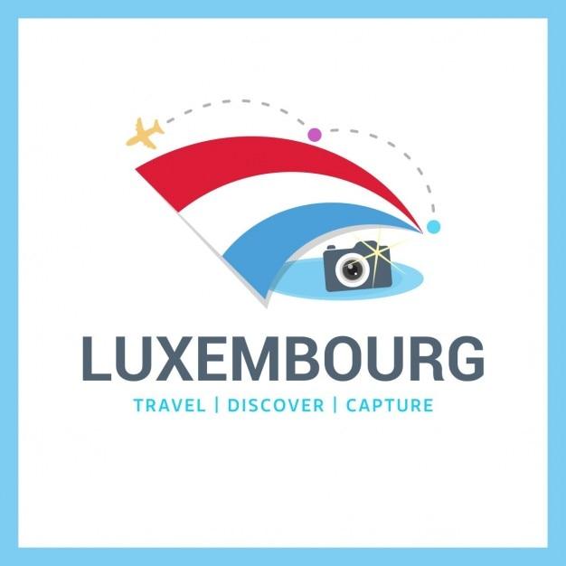 Luxembourg voyage symbole Vecteur gratuit