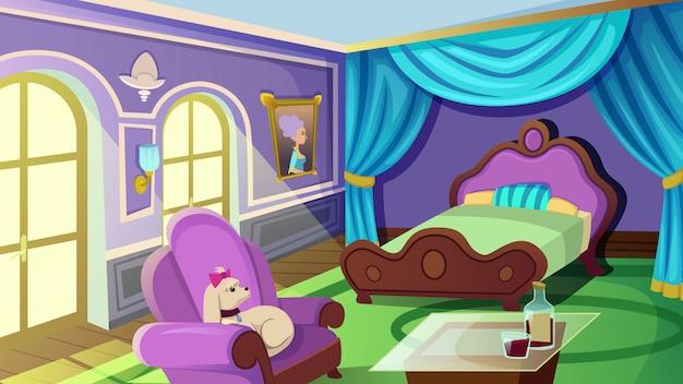 Luxueuse chambre femme avec lit double king size ...