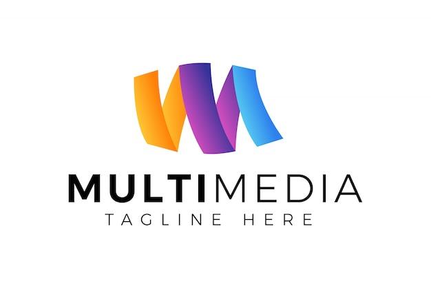 M Lettre Initiale Modèle De Conception De Logo Vecteur Premium