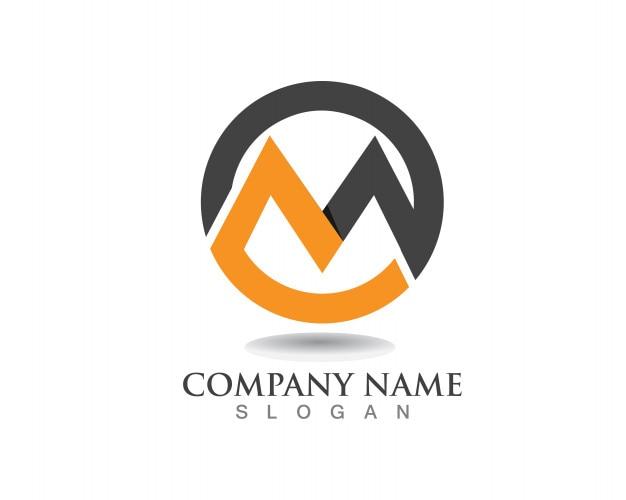 M lettre logo business modèle vector icon Vecteur Premium