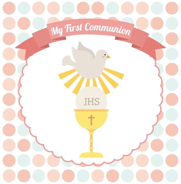 Ma première communion Vecteur Premium