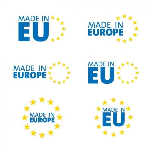 Made in europe, symboles Vecteur gratuit