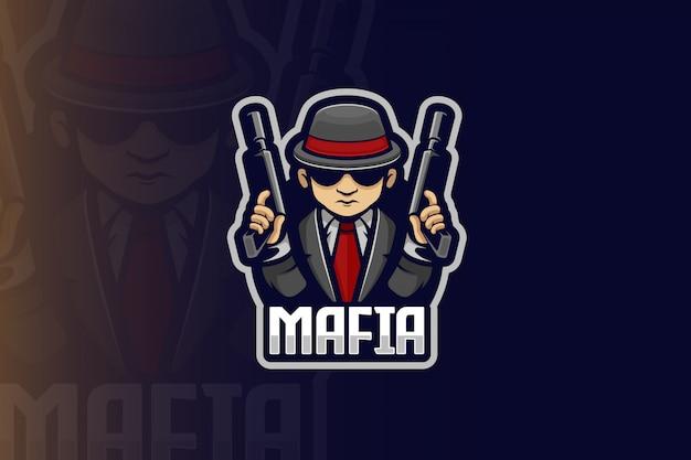 Mafia Esport Logo Vecteur Premium