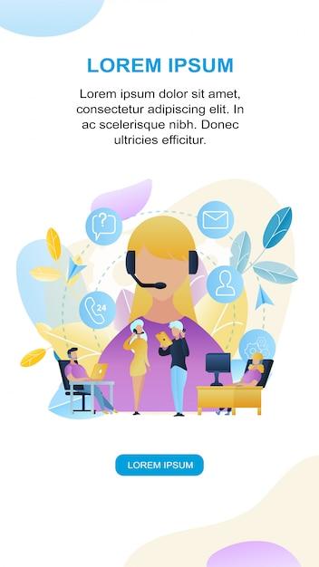 Magasin de groupe de personnes illustration group people call center Vecteur Premium