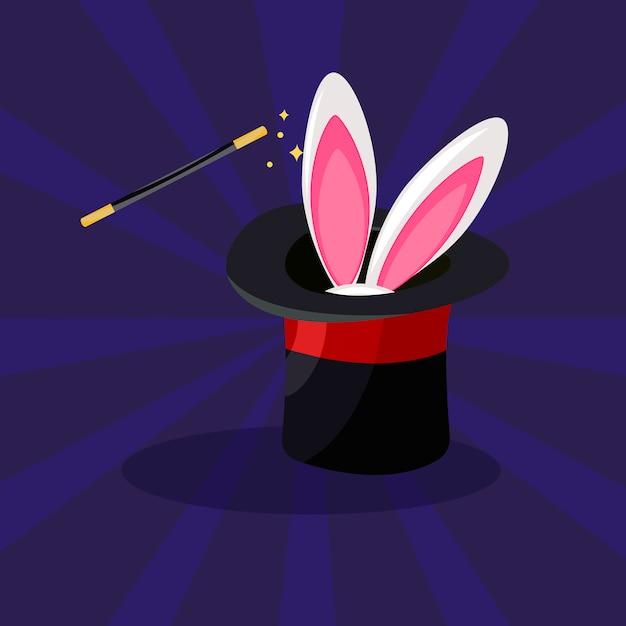Magic icon set, illustration cartoon. Vecteur gratuit