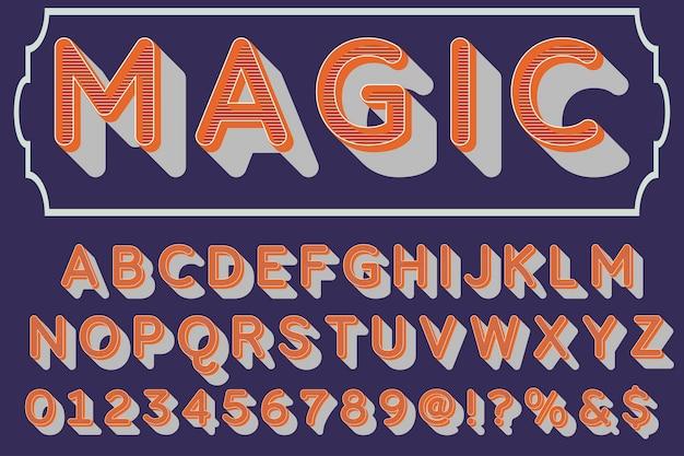 Magie de conception d'étiquettes typographiques Vecteur Premium