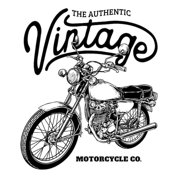Magnifique Badge De Moto Personnalisé Classique Vecteur Premium