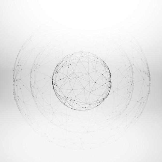 Maille sphère wireframe Vecteur gratuit