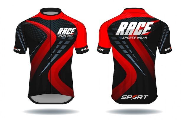 Maillot de cyclisme Vecteur Premium