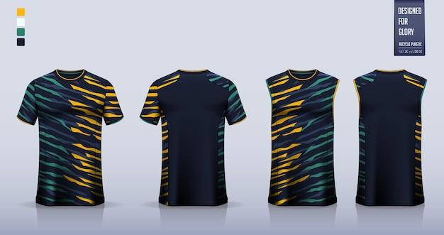 Maillot De Football, Kit De Football, Uniforme De Basket-ball Ou Conception De Modèle De Vêtements De Sport. Vecteur Premium