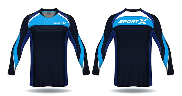 Maillot De Football à Manches Longues Template.sport. Vecteur Premium