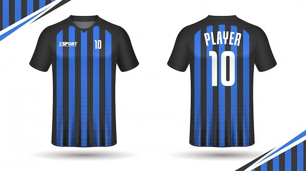 Maillot De Football Modèle Sport T-shirt Design Vecteur Premium
