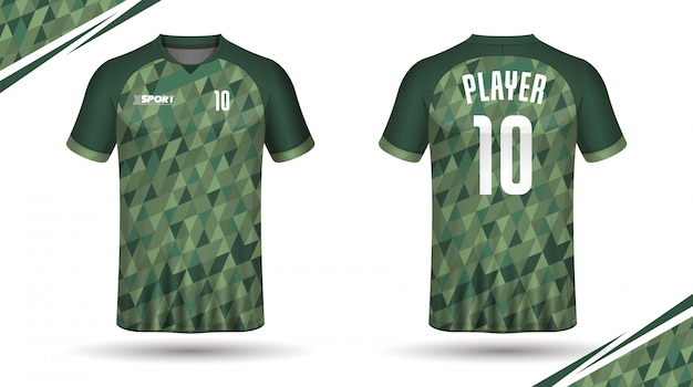 Maillot de football modèle sport t-shirt Vecteur Premium