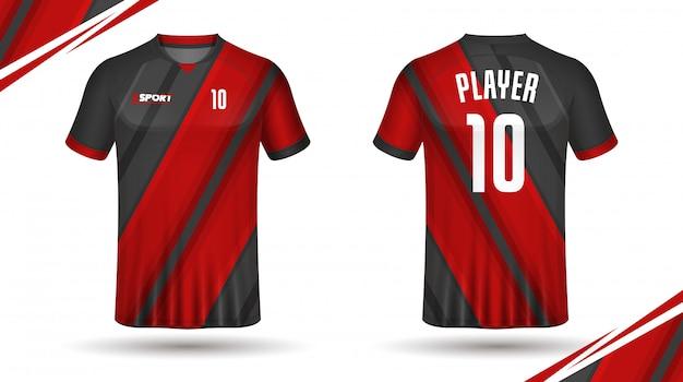 Maillot de football modèle sport tshirt Vecteur Premium