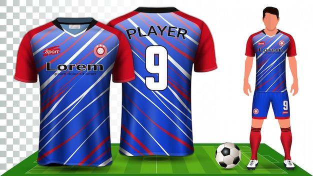 Maillot de sport ou uniforme de football. Vecteur Premium