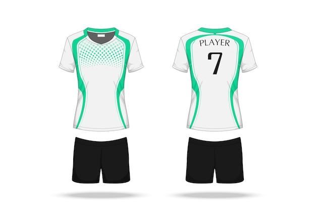 Maillot de volley-ball de spécification isolé sur fond blanc Vecteur Premium