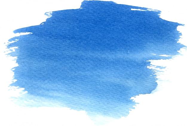 Main abstraite dessiné aquarelle fond bleu Vecteur Premium