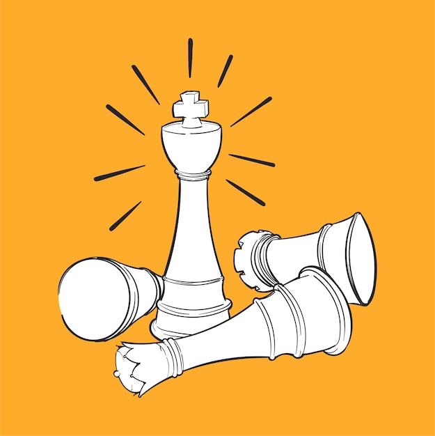 Main, dessin d'illustration du concept de leadership Vecteur gratuit