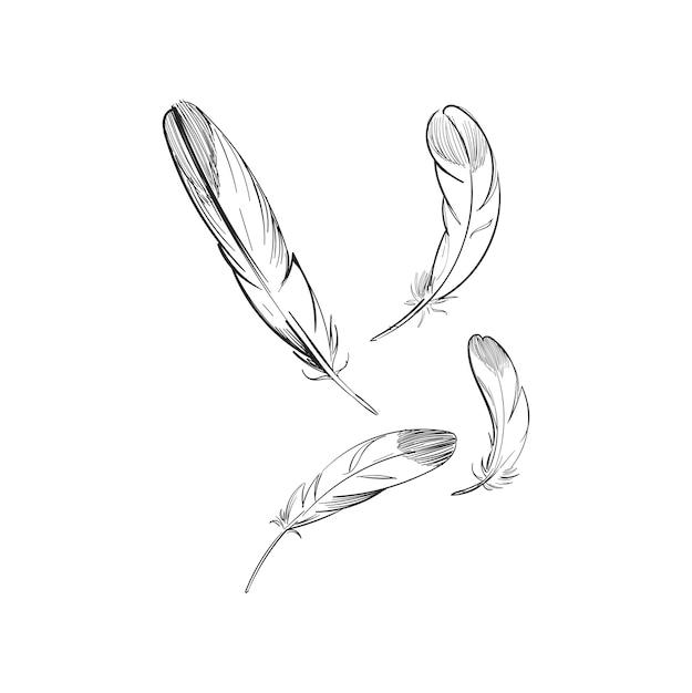 Main dessin illustration du concept de liberté Vecteur gratuit