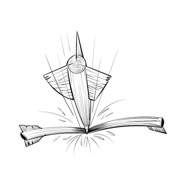 Main dessin illustration du concept d'objectifs Vecteur gratuit