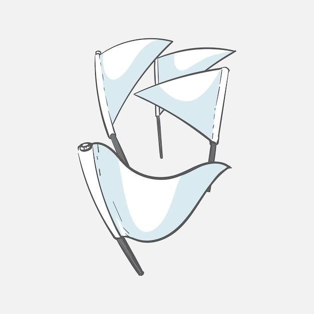Main dessin illustration du concept réussi Vecteur gratuit