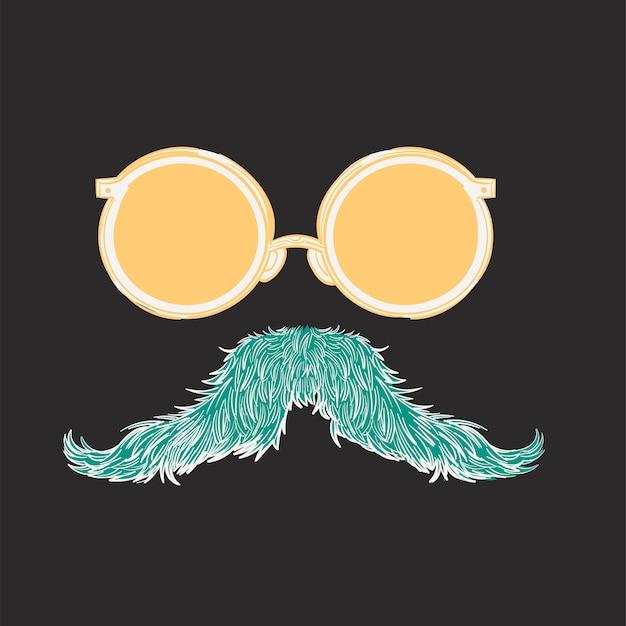 Main, dessin d'illustration du concept de style hipster Vecteur gratuit