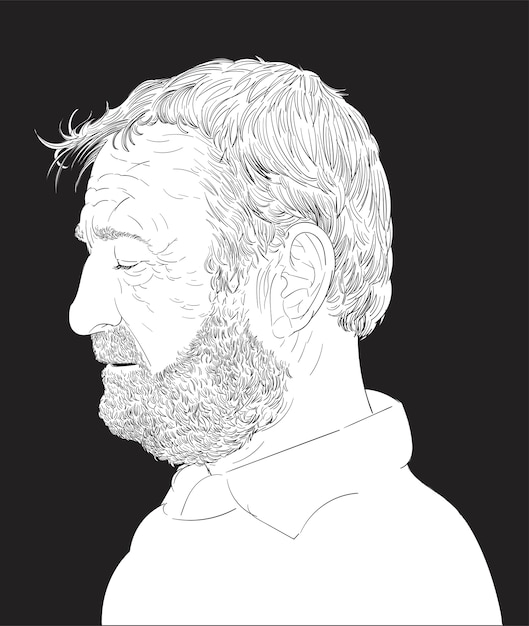 Main dessin illustration du visage humain Vecteur gratuit