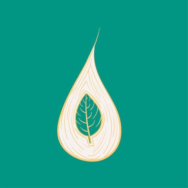 Main, dessin illustration ensemble d'environnement durable Vecteur gratuit