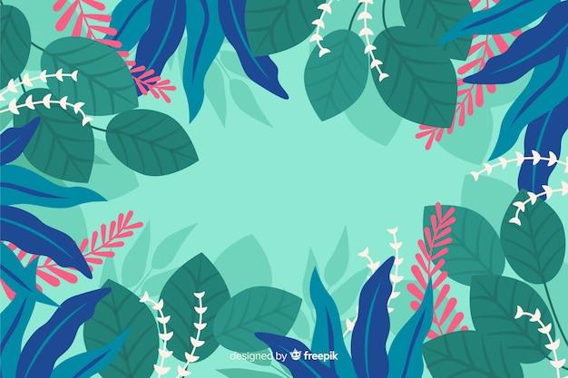 Main dessinée floral abstrait Vecteur gratuit
