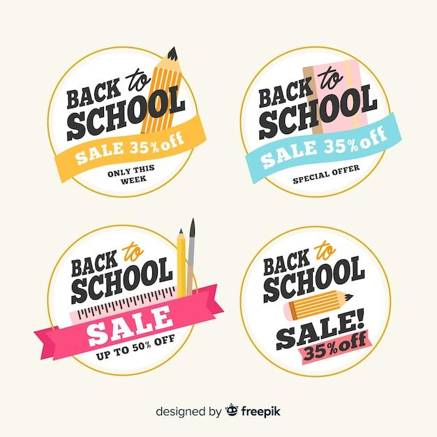 Main dessinée à la vente de l'école Vecteur gratuit