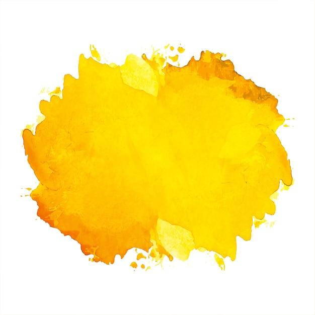 Main Dessiner Fond Aquarelle Splash Orange Vecteur gratuit