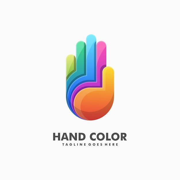 Main illustration colorée vecteur Vecteur Premium