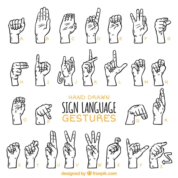 Bien connu Langue Des Signes | Vecteurs et Photos gratuites UM04