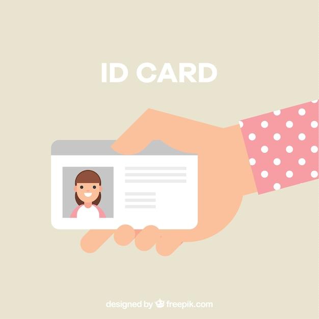 Main tenant la carte d'identité Vecteur gratuit