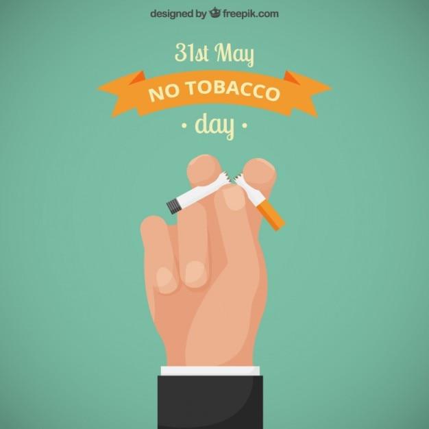 Une main tenant un cigarrette cassé Vecteur gratuit