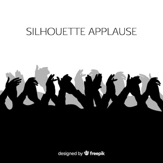 Mains applaudissant silhouette Vecteur gratuit