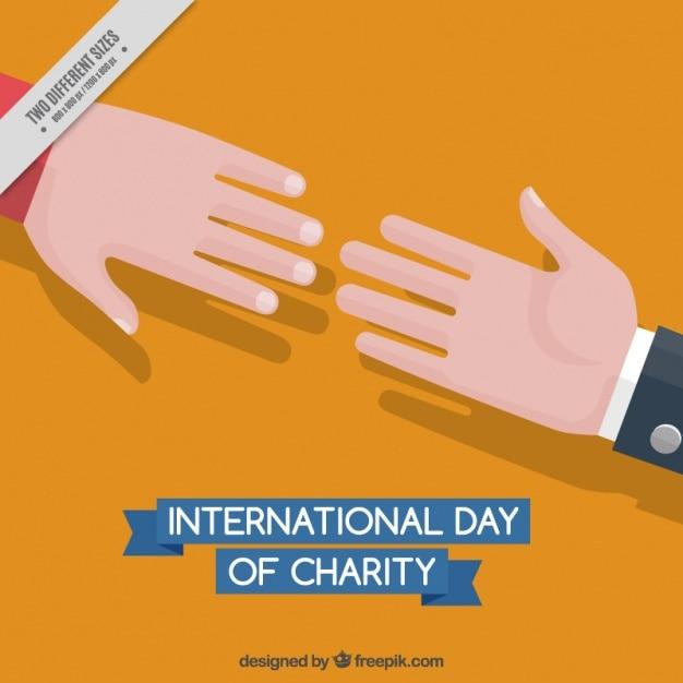 Mains ensemble dans la journée internationale de la charité Vecteur gratuit