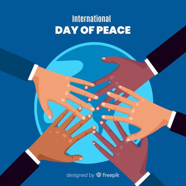Des mains multiculturelles unies pour le monde Vecteur gratuit
