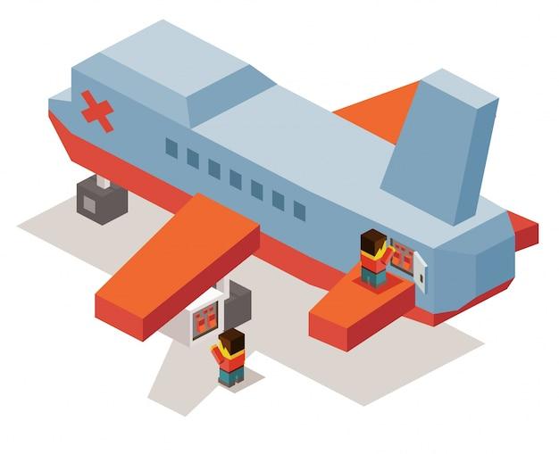 Maintenance d'avion Vecteur Premium