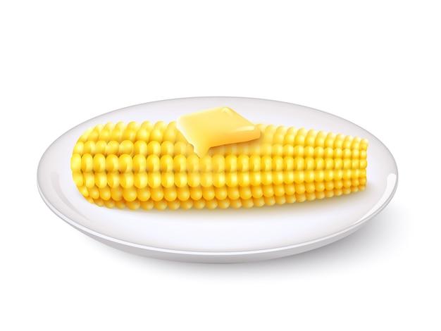 Maïs réaliste Vecteur gratuit